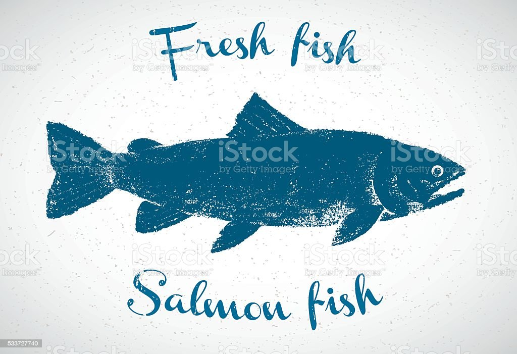 Fish in graphic style. vector art illustration