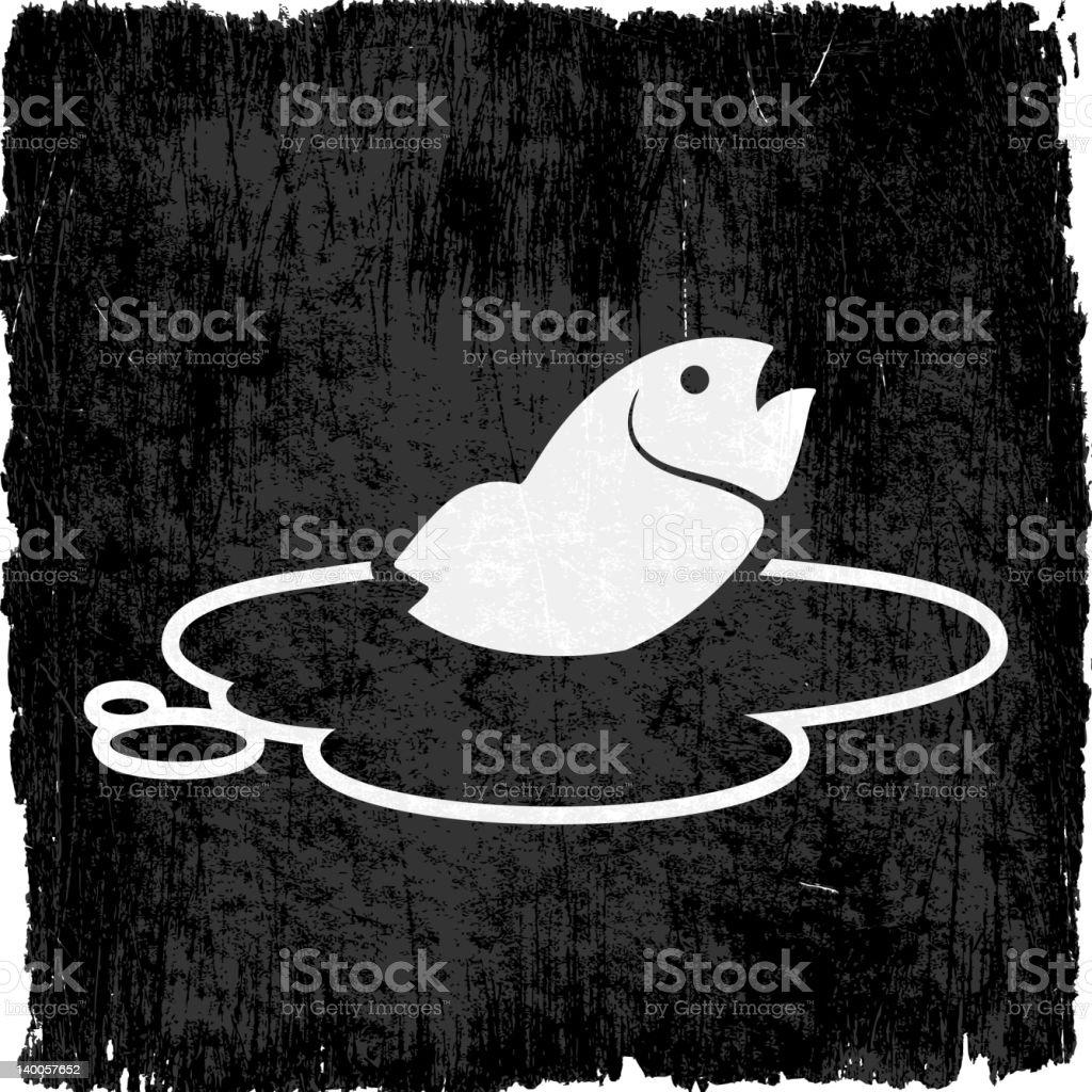 fish in oil slick on royalty free vector Background vector art illustration