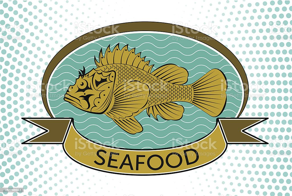 fish label royalty-free stock vector art