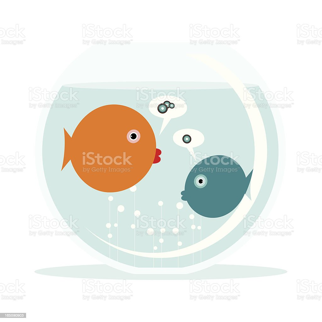 Fish language vector art illustration
