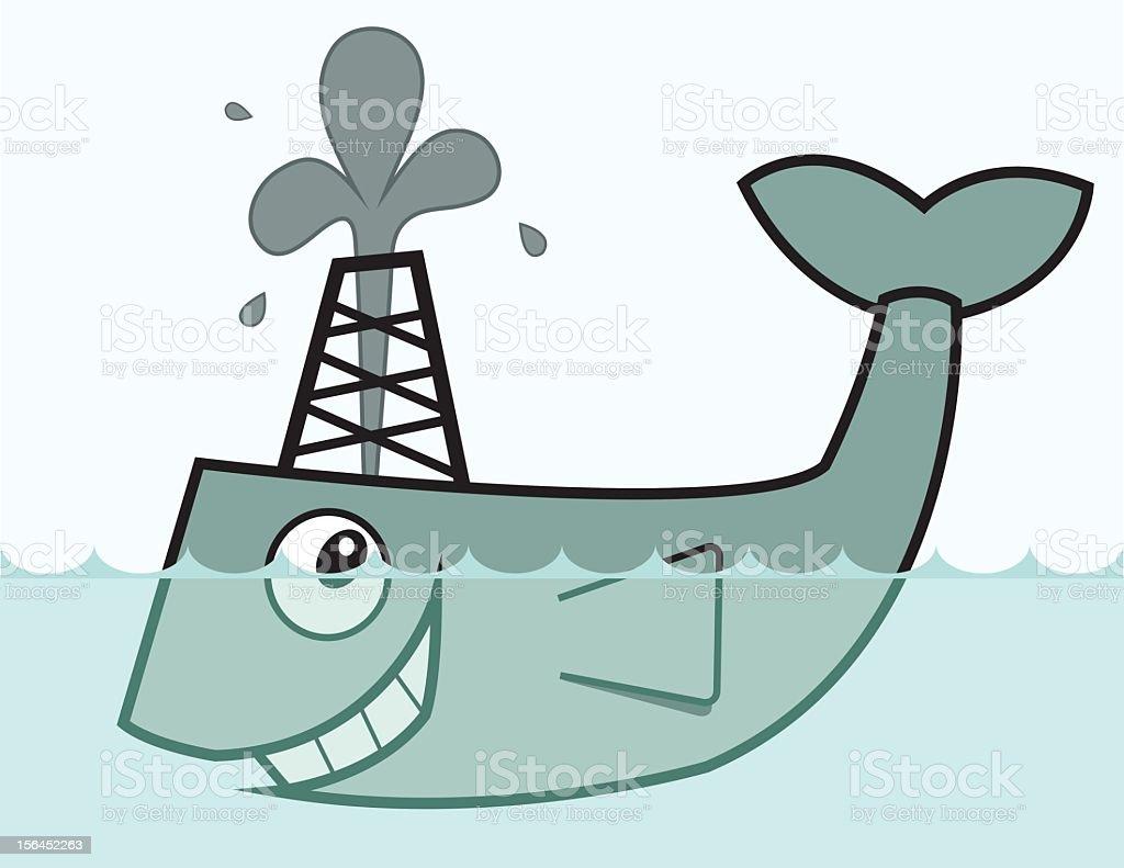 Fish Oil vector art illustration