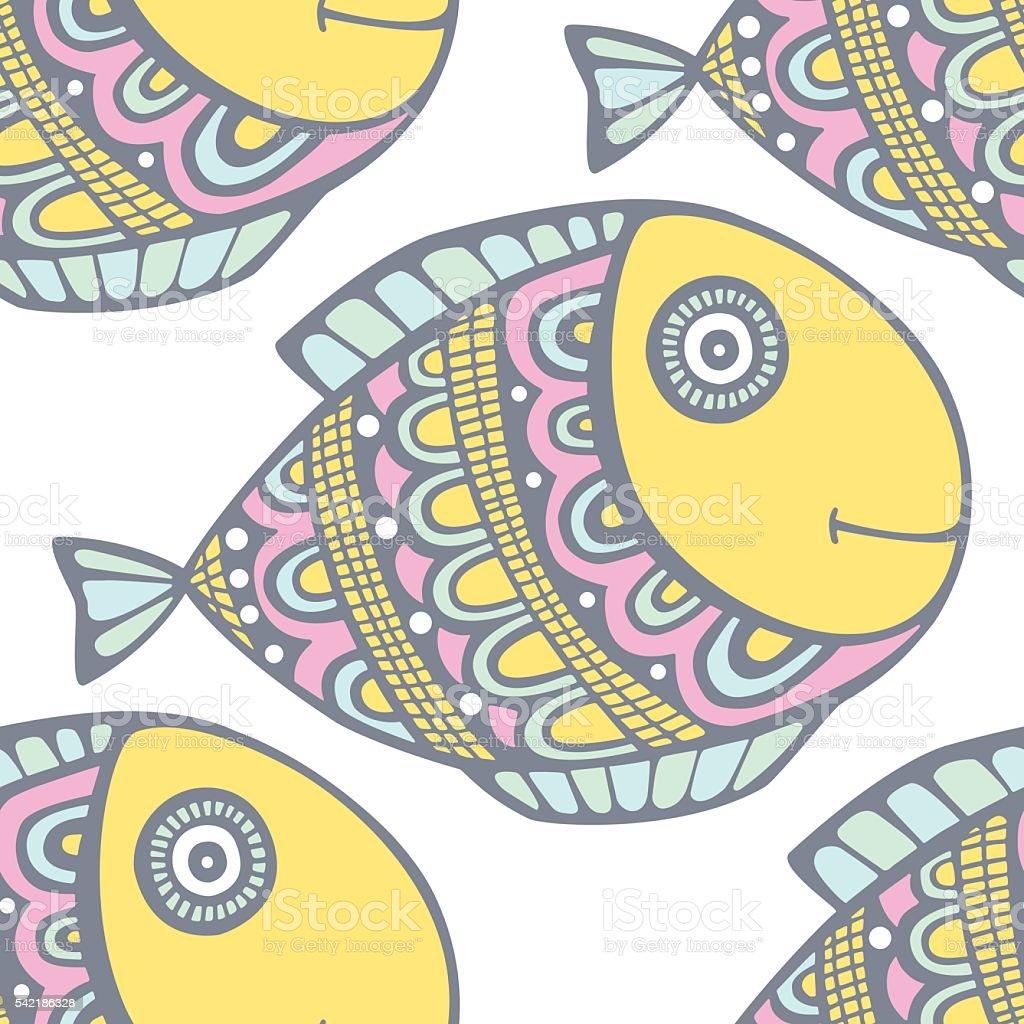 fish pattern vector art illustration