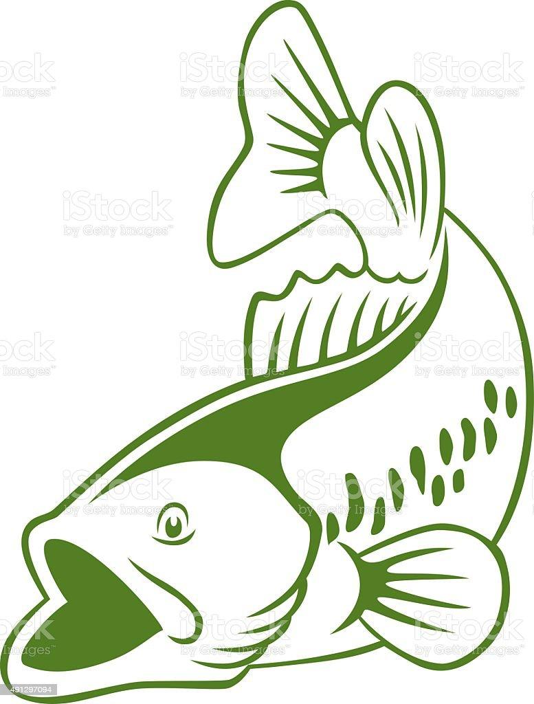 fish perch vector art illustration