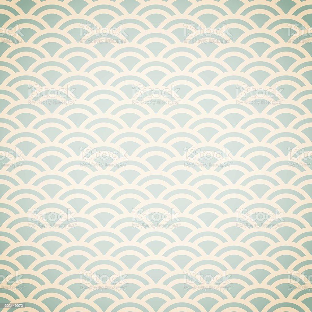 Fish scale pattern background vector art illustration