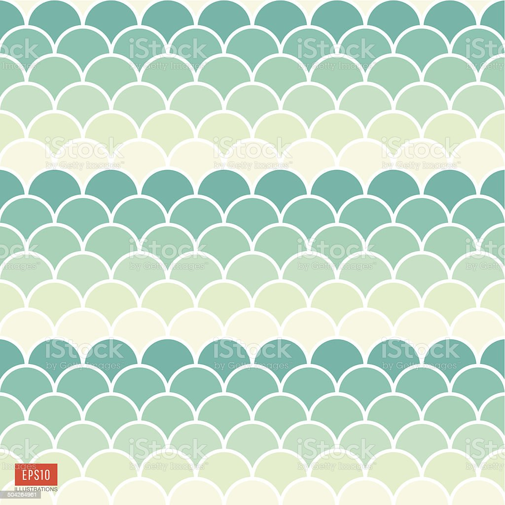 Fish scale pattern vector art illustration