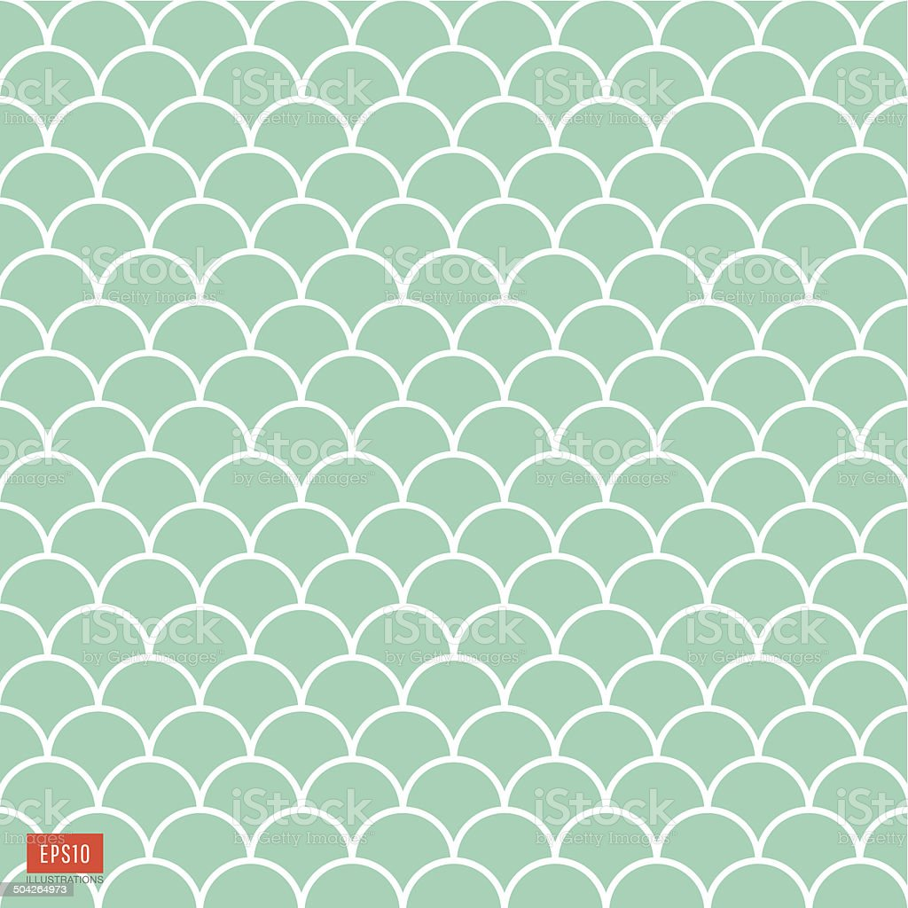 Fish scale pattern vector art illustration