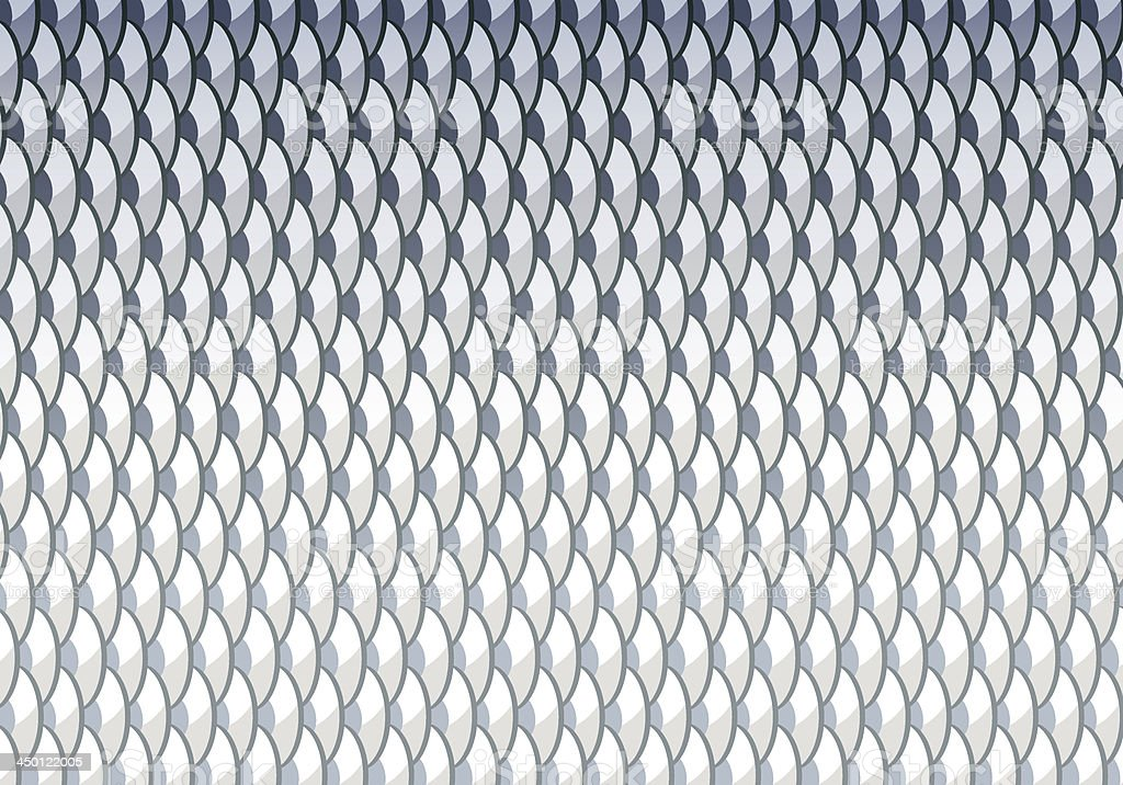 Fish scales background vector art illustration