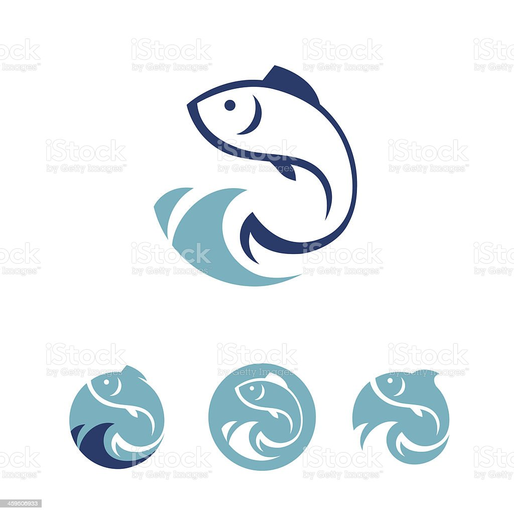 Fish signs vector art illustration