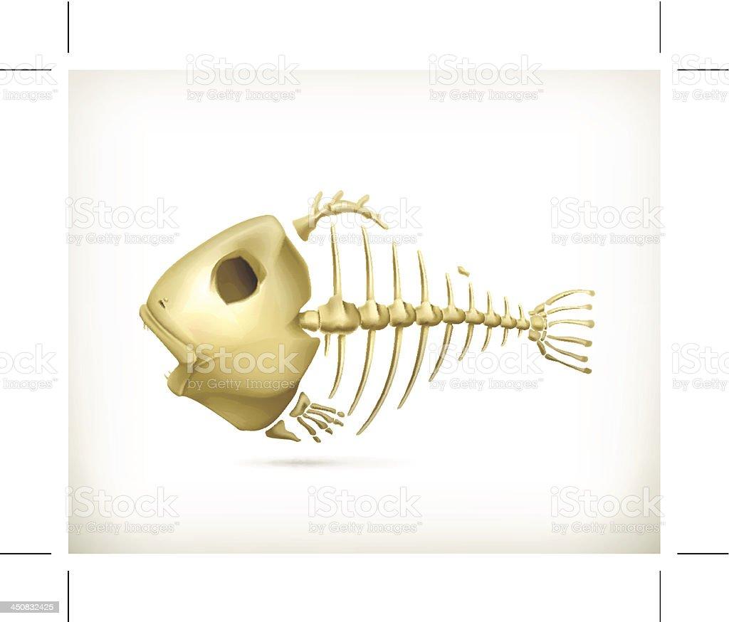 Fish skeleton royalty-free stock vector art