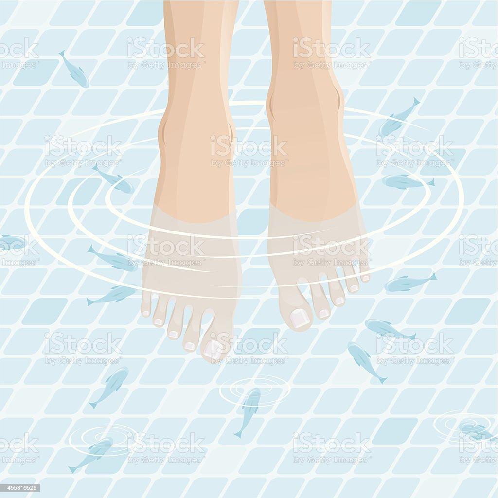 Fish SPA Treatment vector art illustration