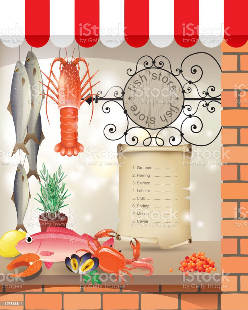 fish store royalty-free stock vector art