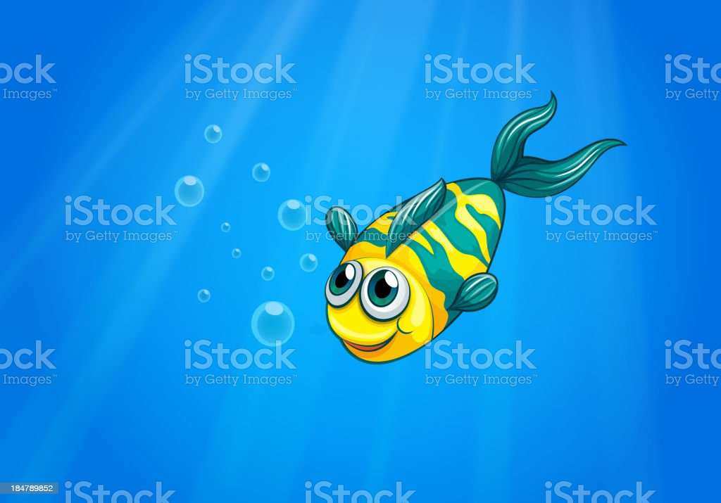 fish swimming in the sea royalty-free stock vector art
