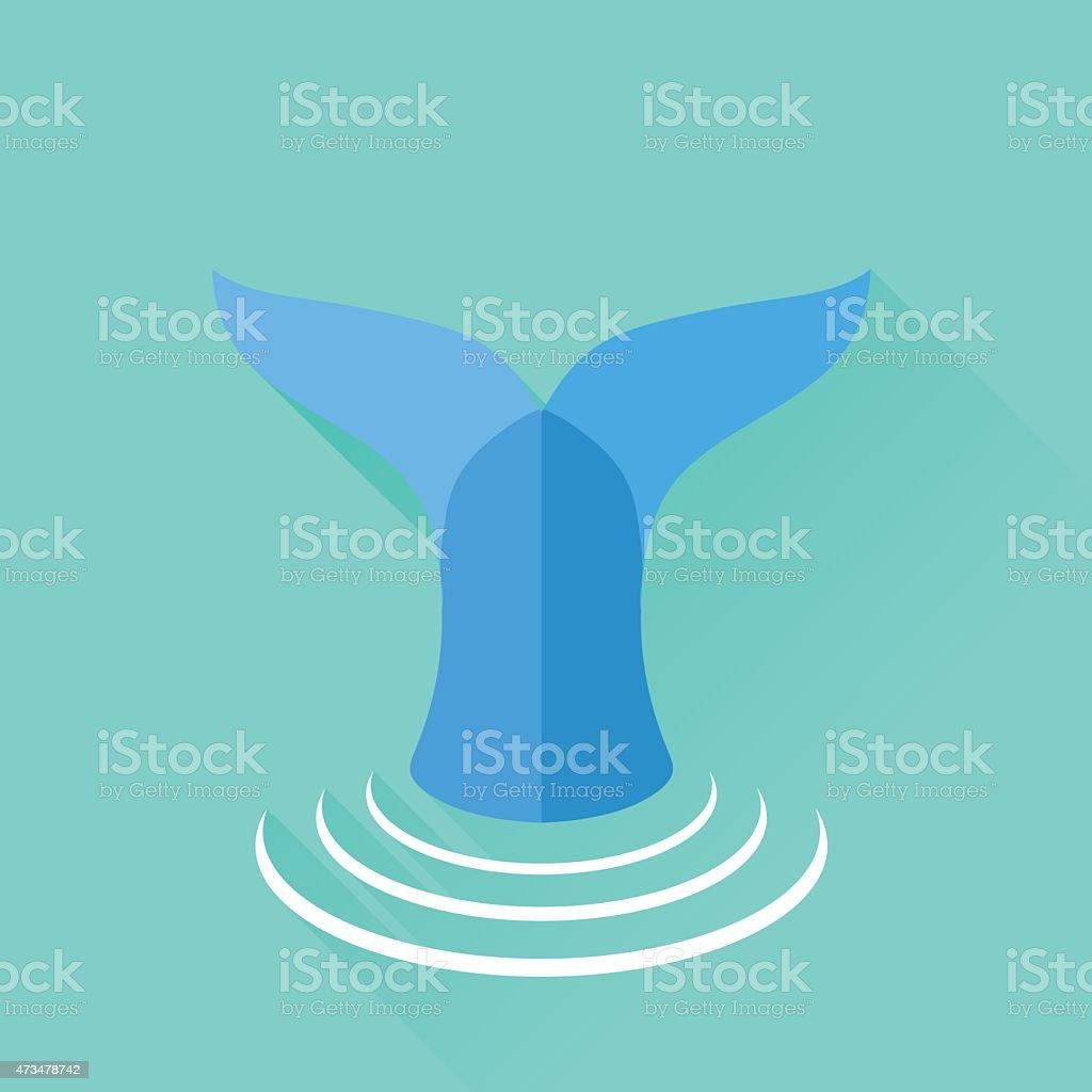 Fish Tail vector art illustration