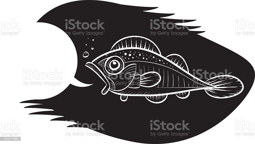 Fish Talk vector art illustration