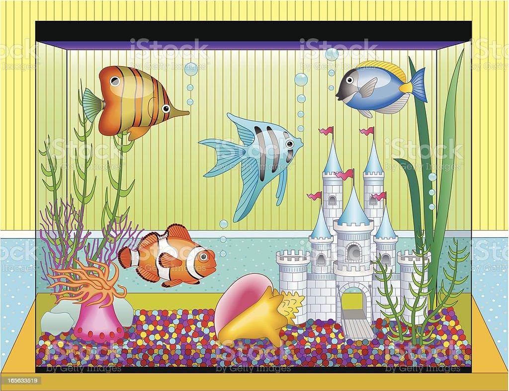 fish tank vector art illustration