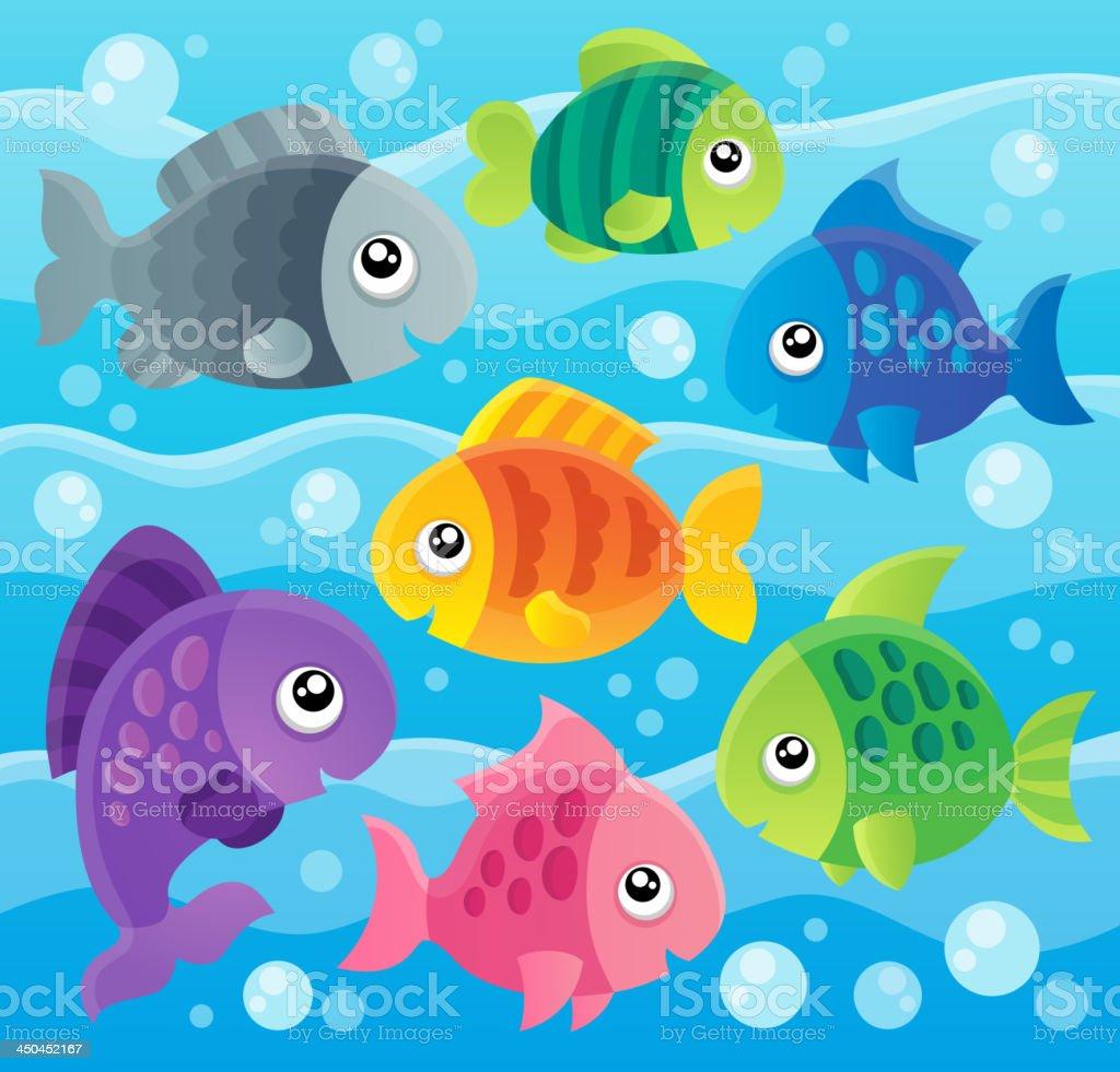 Fish theme image royalty-free stock vector art