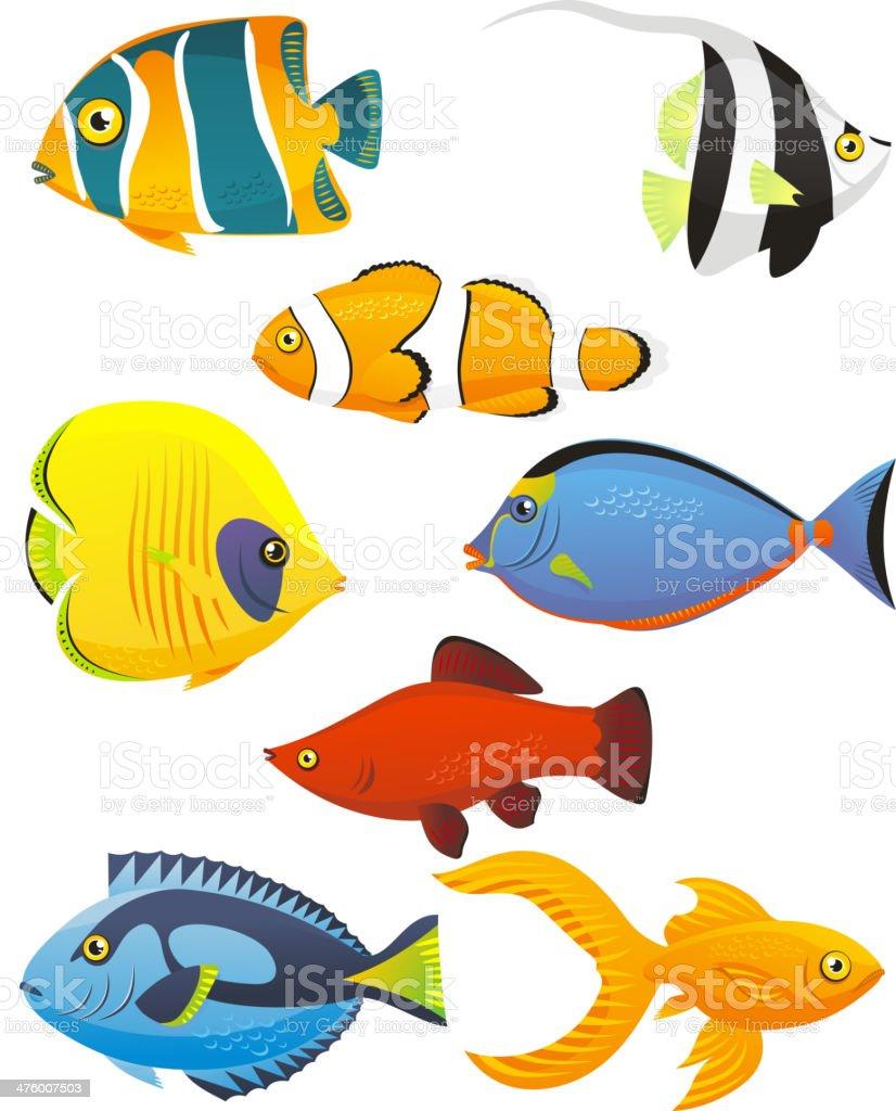 Fish Tropical Fishes Shoal vector art illustration