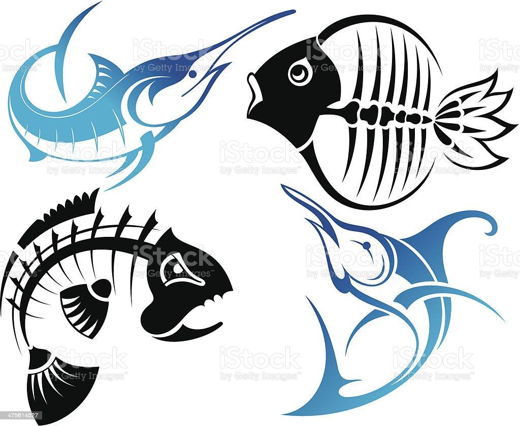 Fish vector art illustration