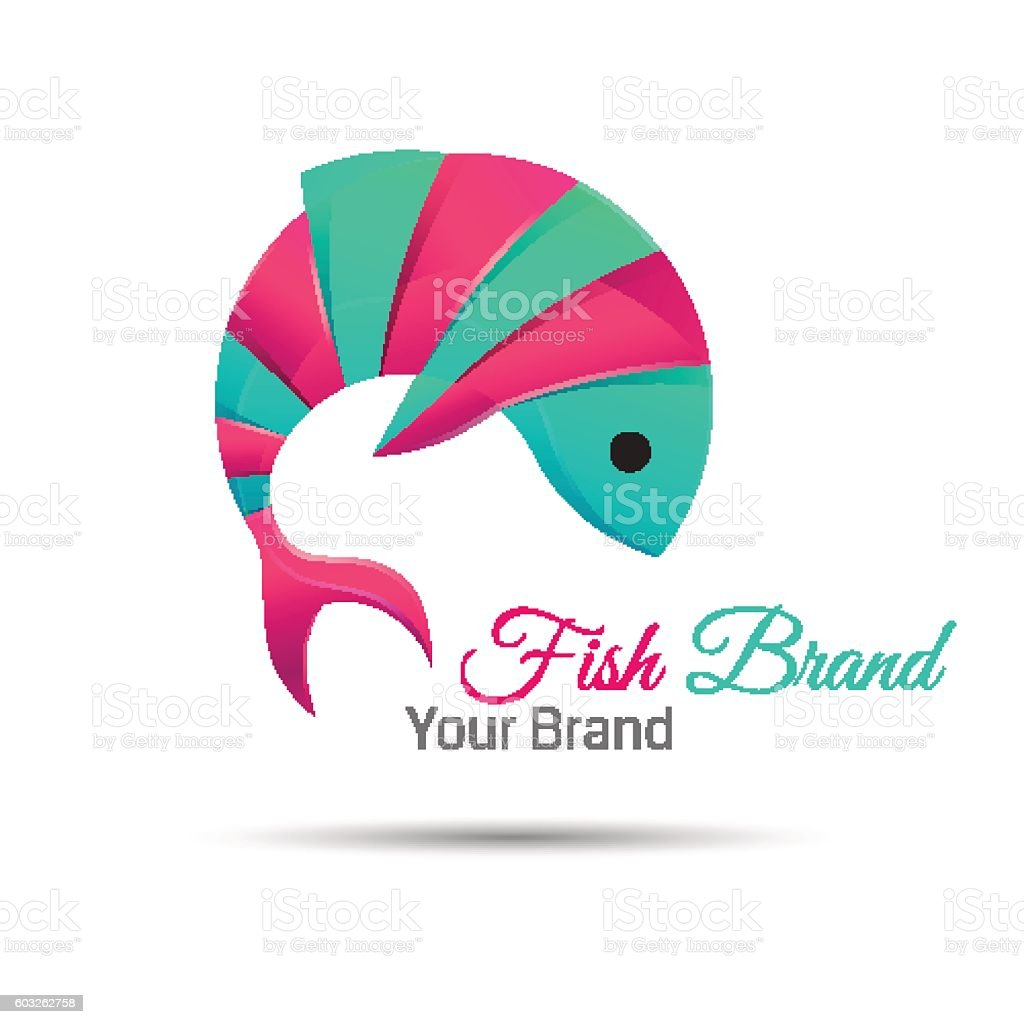 fish vector logo design abstract icon Creative colorful illustration. Template vector art illustration