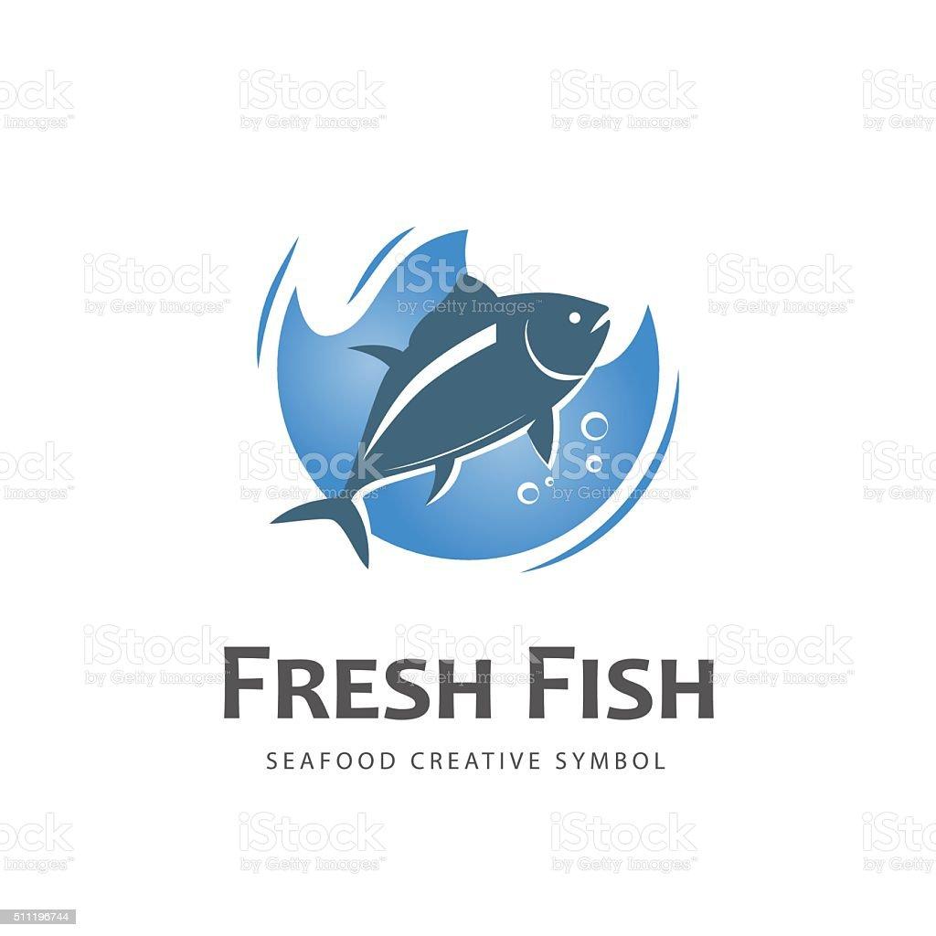 Fish vector symbol vector art illustration
