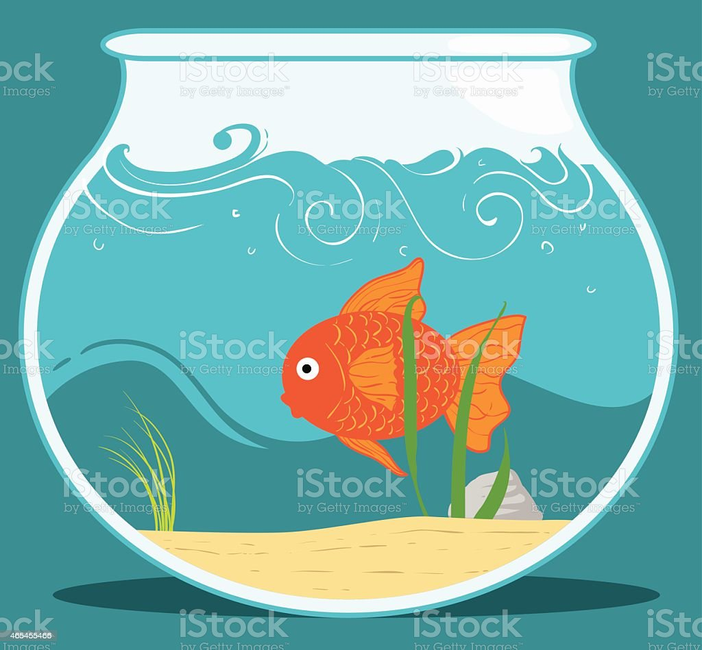 Fishbowl vector art illustration