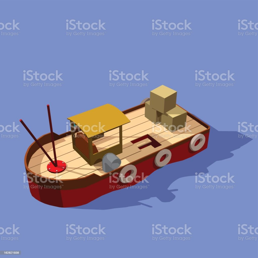 fisher ship royalty-free stock vector art