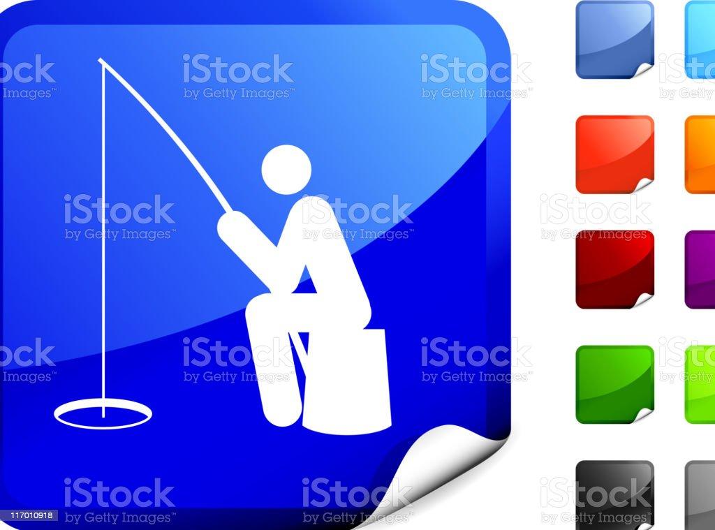 Fisherman ice fishing internet royalty free vector art royalty-free stock vector art