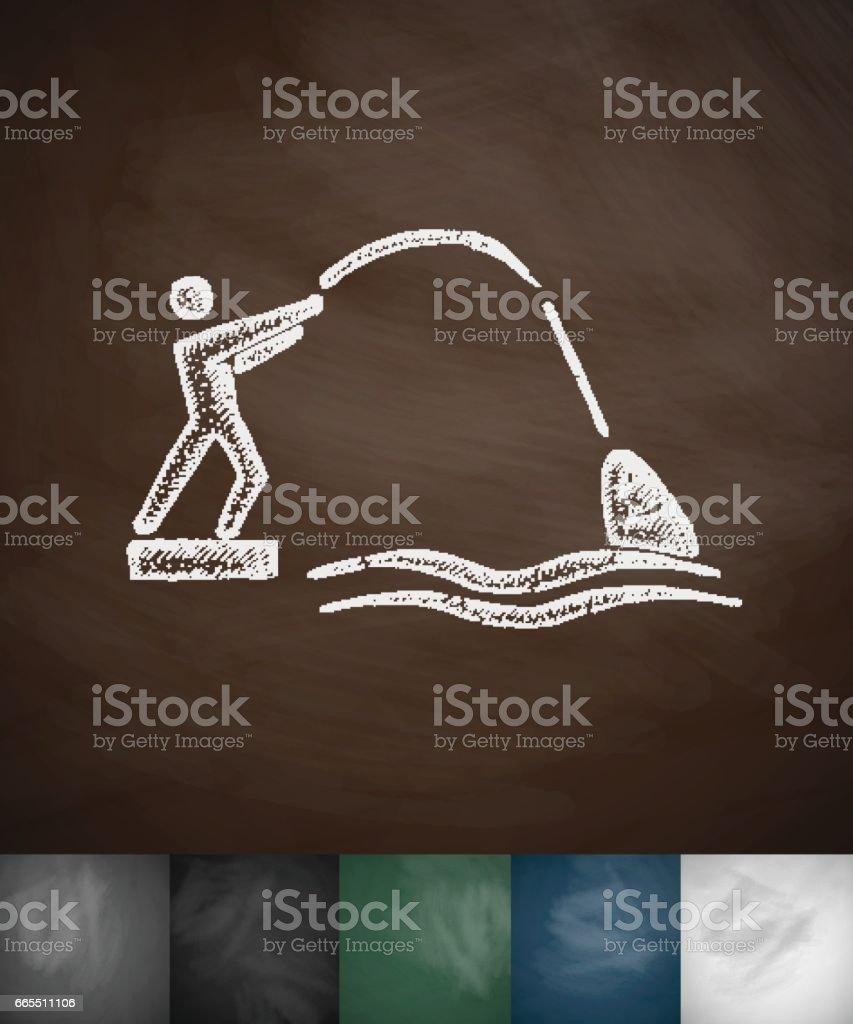 fisherman icon. Hand drawn vector illustration vector art illustration