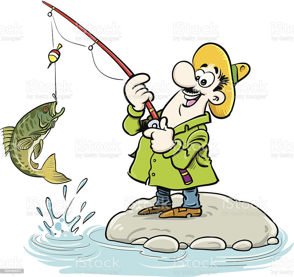 Fisherman royalty-free stock vector art