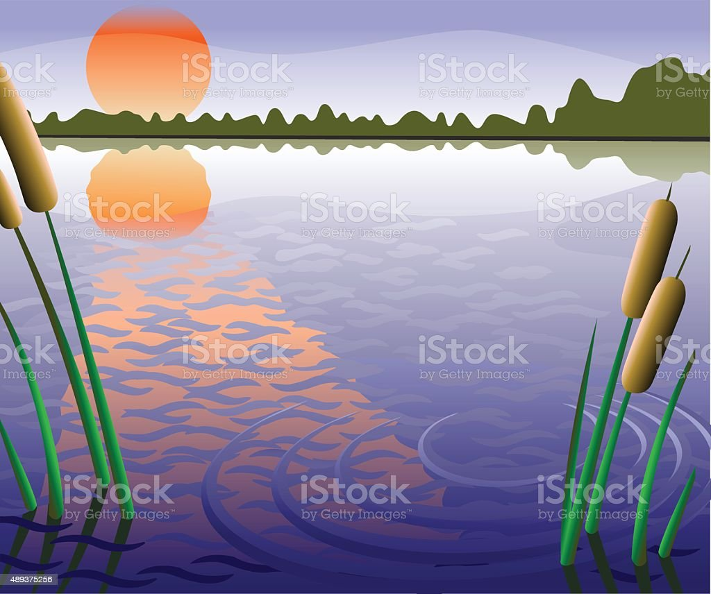 fishery zone vector art illustration