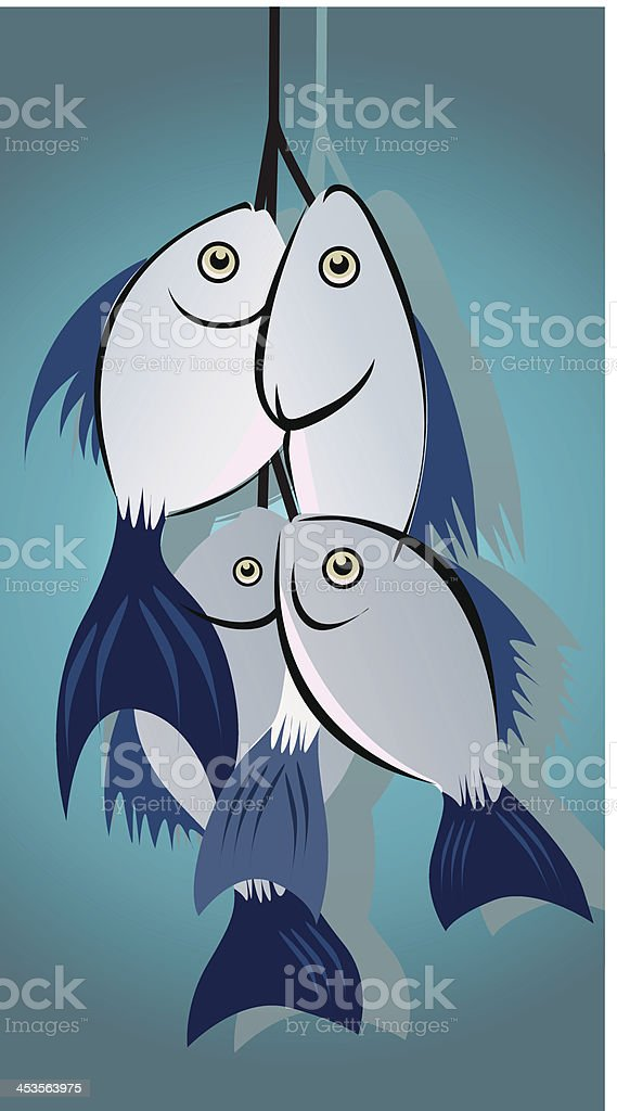 fishes royalty-free stock vector art