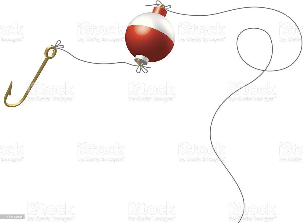 Fishhook Bobber C vector art illustration