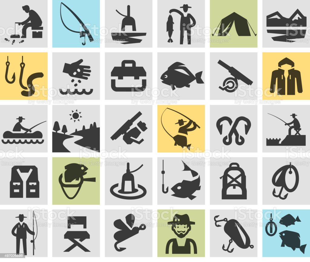 fishing, angling vector logo design template. fisherman, fish or sport vector art illustration