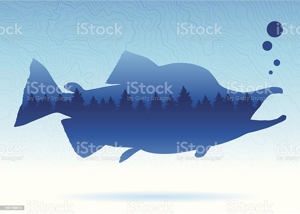 Fishing Background royalty-free stock vector art