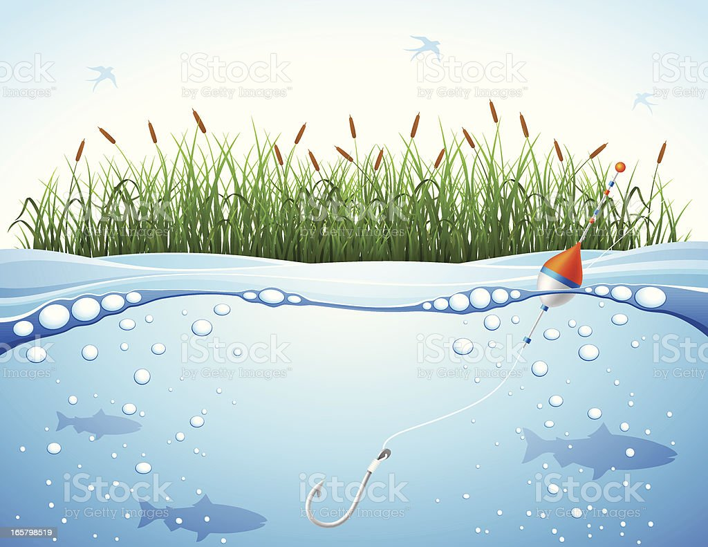 Fishing Background vector art illustration