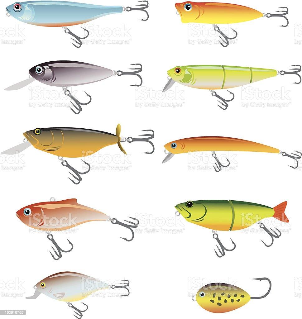 fishing bait vector art illustration
