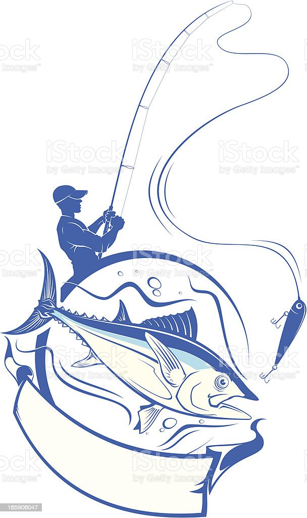 Fishing banner vector art illustration