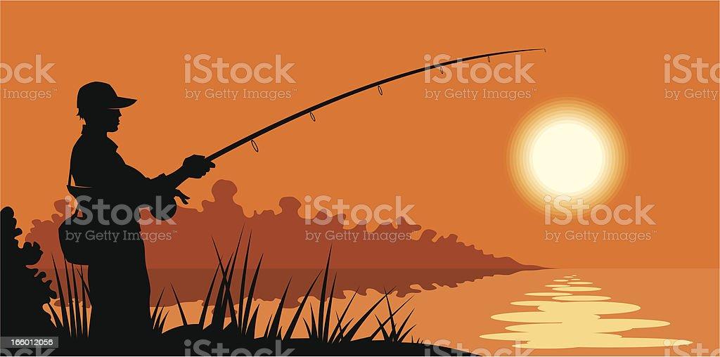 Fishing banner royalty-free stock vector art