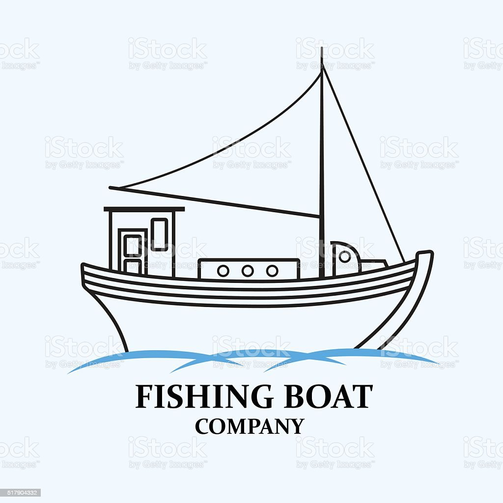 Fishing boat. Nautical ship. Vector image. vector art illustration