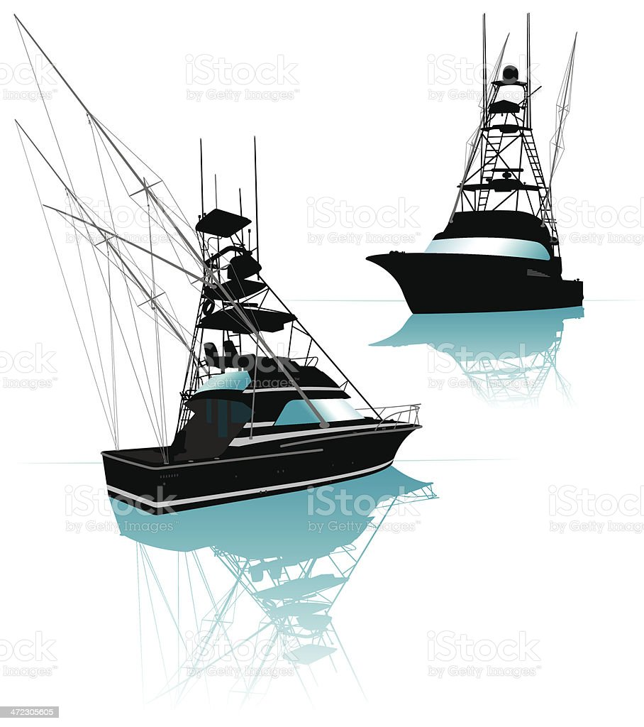 Fishing Boat royalty-free stock vector art