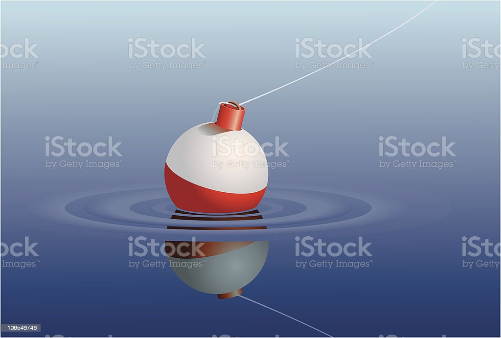 Fishing Bobber in Water royalty-free stock vector art