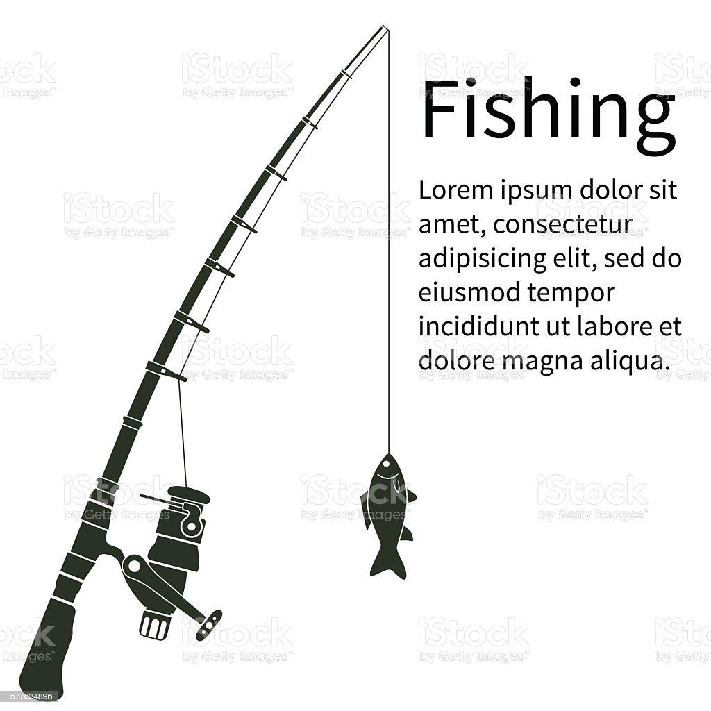 Fishing concept vector vector art illustration