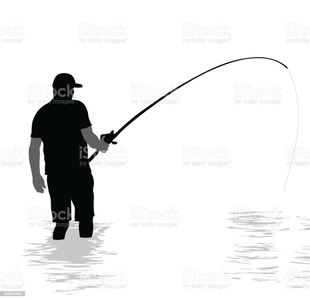 Fishing Daily vector art illustration