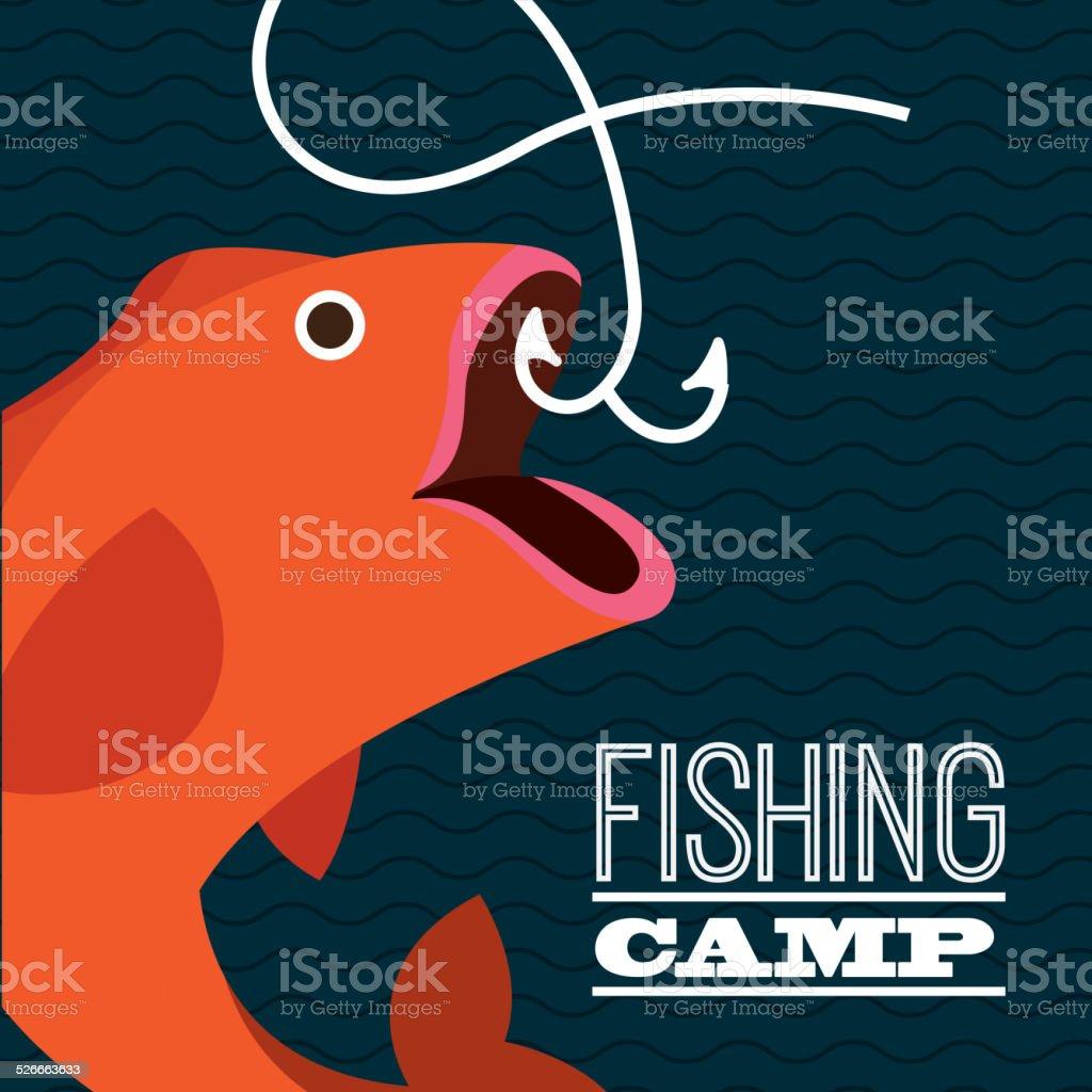 fishing design vector art illustration