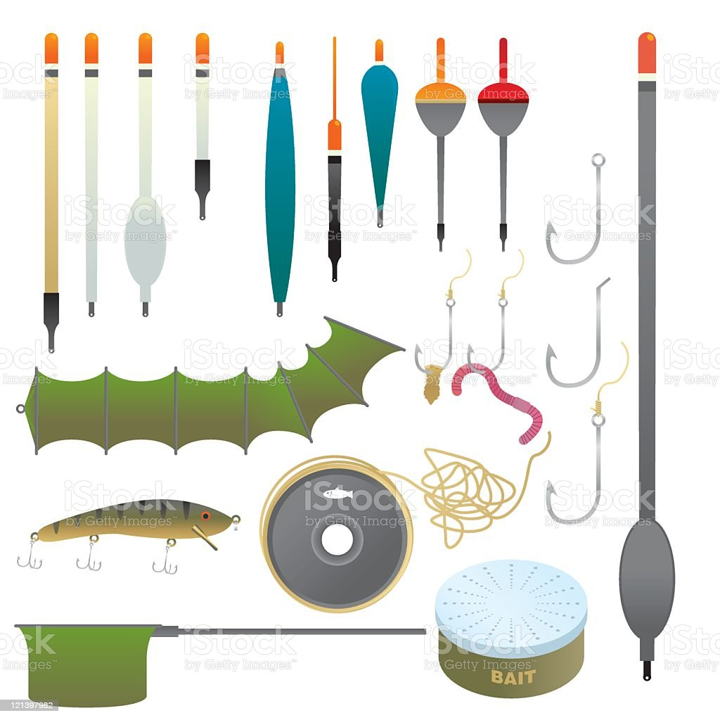 Fishing Equipment royalty-free stock vector art