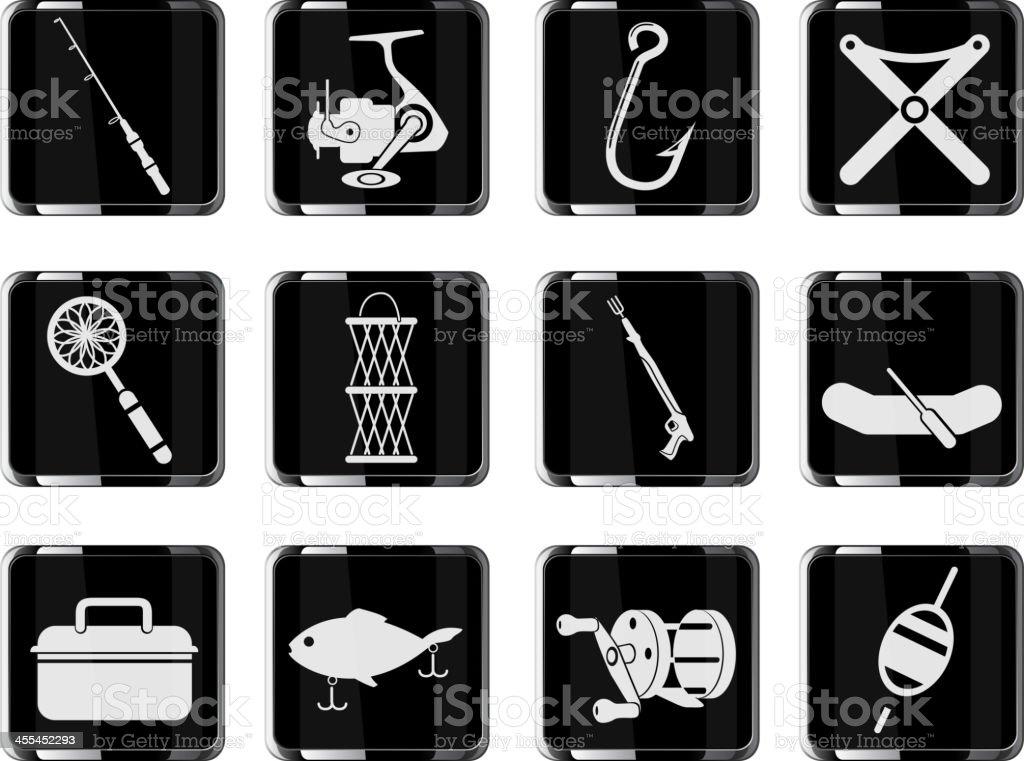 Fishing icon set royalty-free stock vector art