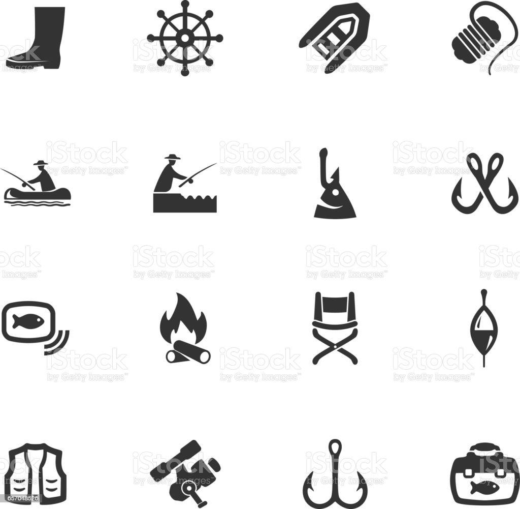 Fishing Icons Set Vektor Illustration 657048526 Istock