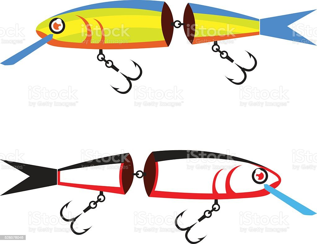 Fishing lure sectional vector vector art illustration