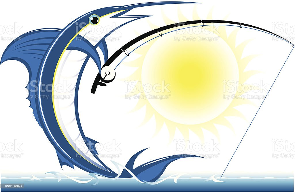 Fishing Marlin vector art illustration