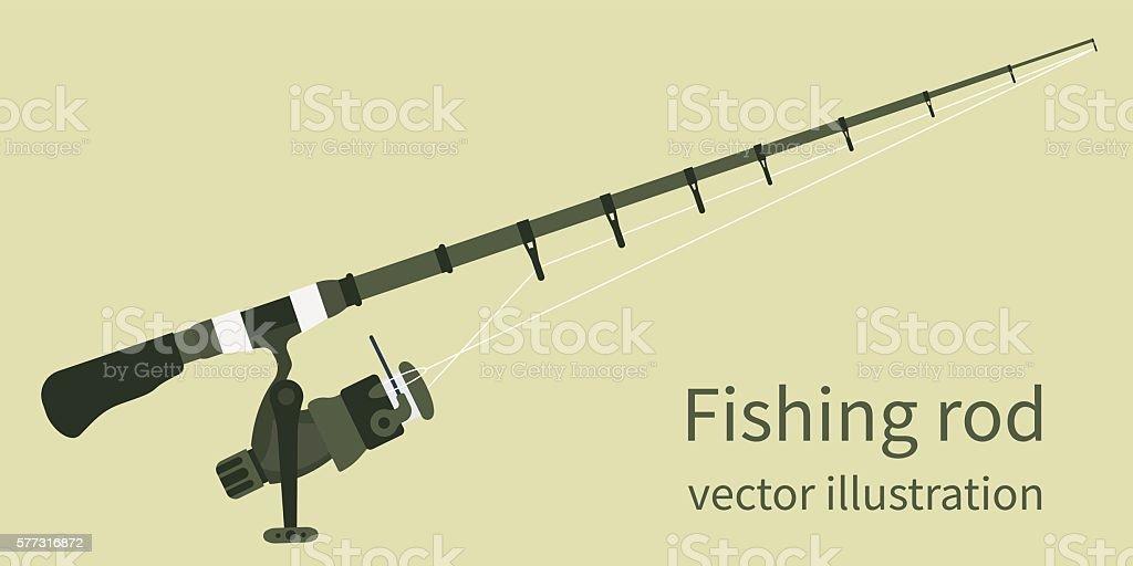 Fishing rod, vector illustration vector art illustration